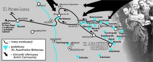 Trasa Marszu Śmierci z KL Auschwitz-Birkenau
